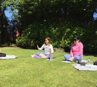Guided meditation in the sun